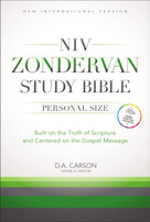 NIV Zondervan Study Bible, Personal Size, Hardcover (Built on the Truth of Scripture and Centered on the Gospel Message) by D. A. Carson, T. Desmond Alexander, Richard Hess, Douglas  J. Moo, Andrew David Naselli, 9780310438311