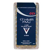 CCI FMJ 17 HMR AMMO 20 GRAINS