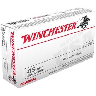 Winchester 45 Auto Full Metal Jacket 230 Grain Ammunition