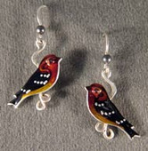 Blackburnian Warbler Earrings