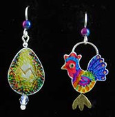 Which Came First, the Chicken or the Egg? Earrings