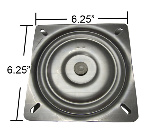 Replacement Bar Stool Swivel Plate - 6.25  Square - Flat Profile - S4695  sc 1 st  Chairpartsonline & Swivel Chair Parts u0026 Replacement Bar Stool Swivel Plates with Ball ... islam-shia.org