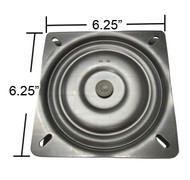 "Replacement Bar Stool Swivel Plate - 6.25"" Square - Flat Profile - S4695"