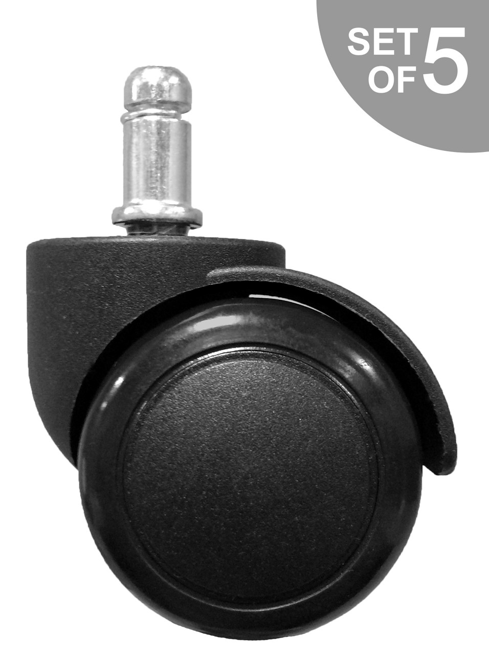 Replacement Hard Floor Office Chair Caster Set Of 5 FREE