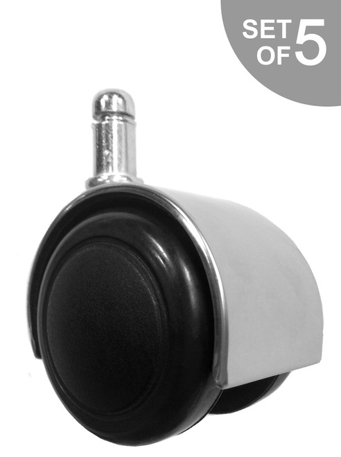 2 chrome hard floor chair caster for 2 furniture casters