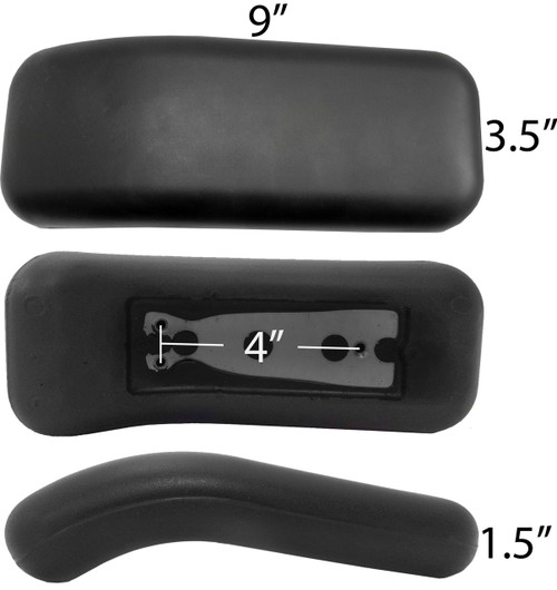 Herman Miller Replacement Equa Armrest Arm Pads Non OEM S4109 1