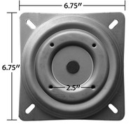 "Replacement Bar Stool Swivel - 6.75"" Square w/ Round Bottom Plate - Flat Profile - FREE SHIPPING - S5447"