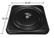 """Replacement Recliner Easy-Chair or Furniture Swivel Plate 10.25"""" Square - Flat - S1235-1"""