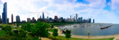 Chicago Harbor View Panoramic