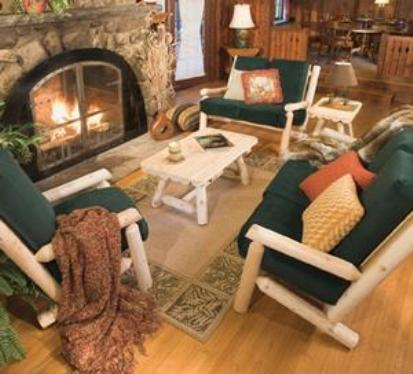 log home living room furniture rustic cedar cabin