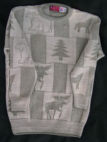 Multi-Panel Bear and Moose Sweater - ON SALE!