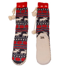 Moose Fair Isle Mukluk Slippers