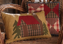 Cabin Design Throw Pillows