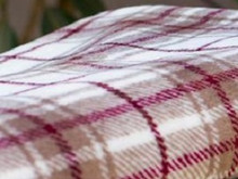 Tartan Plaid Driftwood/Merlot Throw