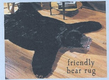 Plush Black Bear Rug