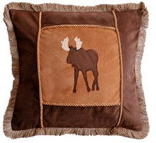 Moose Plaid Accent Pillows