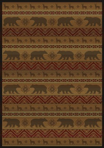 Nordic Bear rug - Walnut - ON SALE!