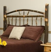 Wagon Wheel Hickory Bed Headboard