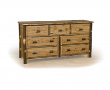 Hickory and Oak 7 drawer dresser
