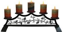 Pinecone Fireplace Pillar Holder