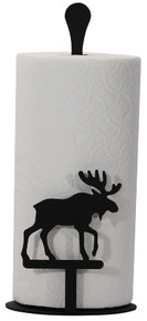 Moose paper towel stand