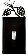Black wrought iron switch cover