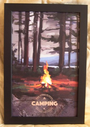 Camping Poster Framed Adirondack Country Store