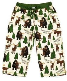"""I Moose Have a Hug"" pajama capri pants"