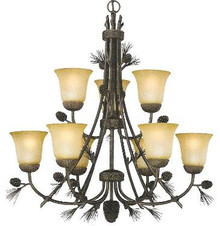 Sierra 9 light chandelier