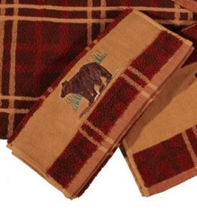 Plaid bear finger tip towel