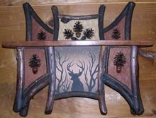Rustic shelf, handcrafted