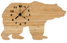 Northwoods Bamboo Bear Wall Clock