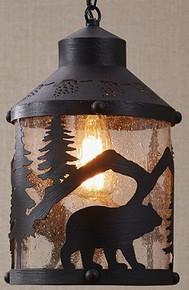 Black Bear Pendant Light