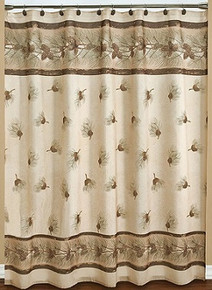 Pinehaven Fabric Shower Curtain