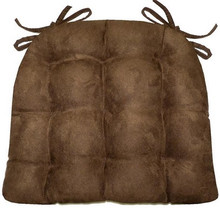 Coffee Bean Brown Micro-Suede Chair Pad