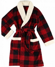 Moose Plaid Bathrobe