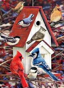 Winter Birdhouse Puzzle