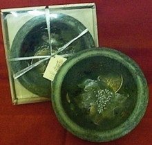 Evergreen Candle Bowl