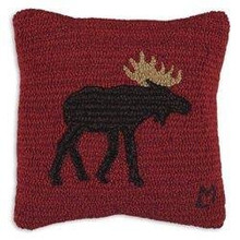Brown Moose Pillow