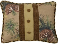 Crestwood Pinecone Pillow with Buttons