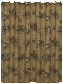 Crestwood Pinecone Shower Curtain