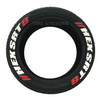 TIRE STICKERS - 4 permanent tire decals  w/ tire cleaner combo pack