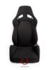Cipher Auto - AR-8 Revo Racing Seats All Black Fabric w/red outer stitching - Pair