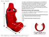 Cipher Auto - Racing Seats Black Suede & Fabric w/ Carbon Fiber Poly Backing - Pair