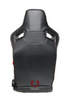 Cipher Auto - Racing Seats Black Leatherette Carbon Fiber w/ gray stitching - pair