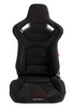 Cipher Auto - AR-9 Revo Racing Seats Black Suede & Fabric w/ carbon fiber poly backing - Pair