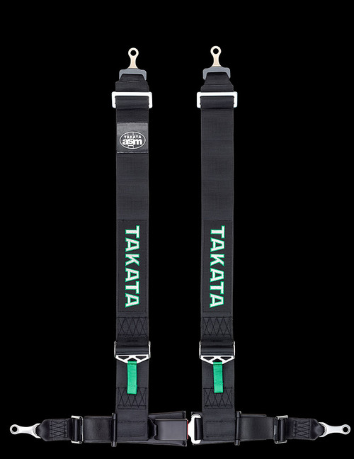 "Street Oriented 4 point harness 3"" Shoulders, 2"" Lap belts with Pull-down adjusters Bolt-in hardware Street Legal Available in Green or Black"