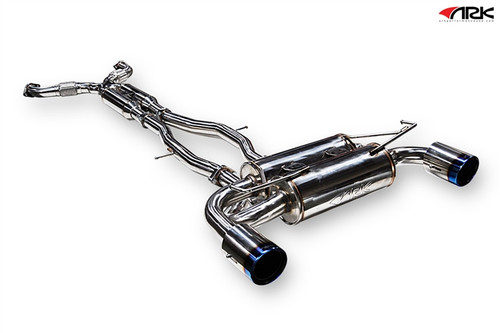 Nissan 370Z (09+) Z34 ARK DT-S Collection (Cat-back Exhaust)  Polished, Burnt, or Tecno Tip Z34 ARK Performance   DT-S Exhaust Collection