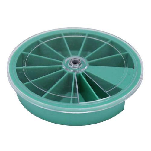 "Plastic Revolving Tray 12 Extra Deep Compartments 3-1/4"" Diameter x 5/8"" Height"