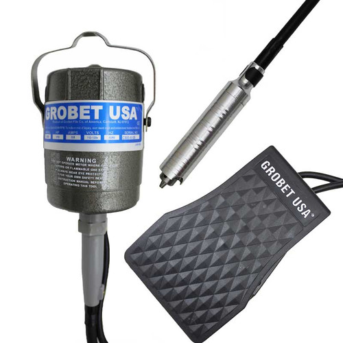 1/10 HP c-300 Flexshaft Rotary Tool Kit with Handpiece and Foot Pedal